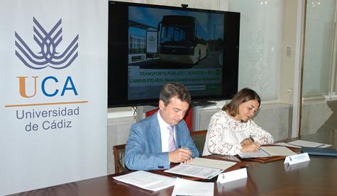 Firma de convenio de transporte y nuevos horarios BUS en el Campus de Puerto Real