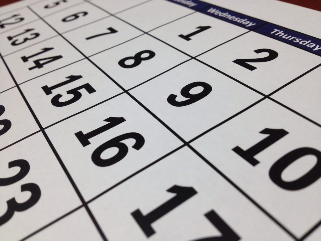 Calendarios TFG Junio y Septiembre 2021